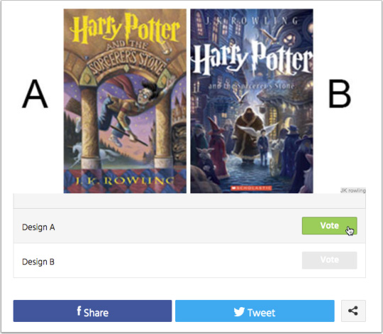 Book Cover Poll Example - Harry Potter