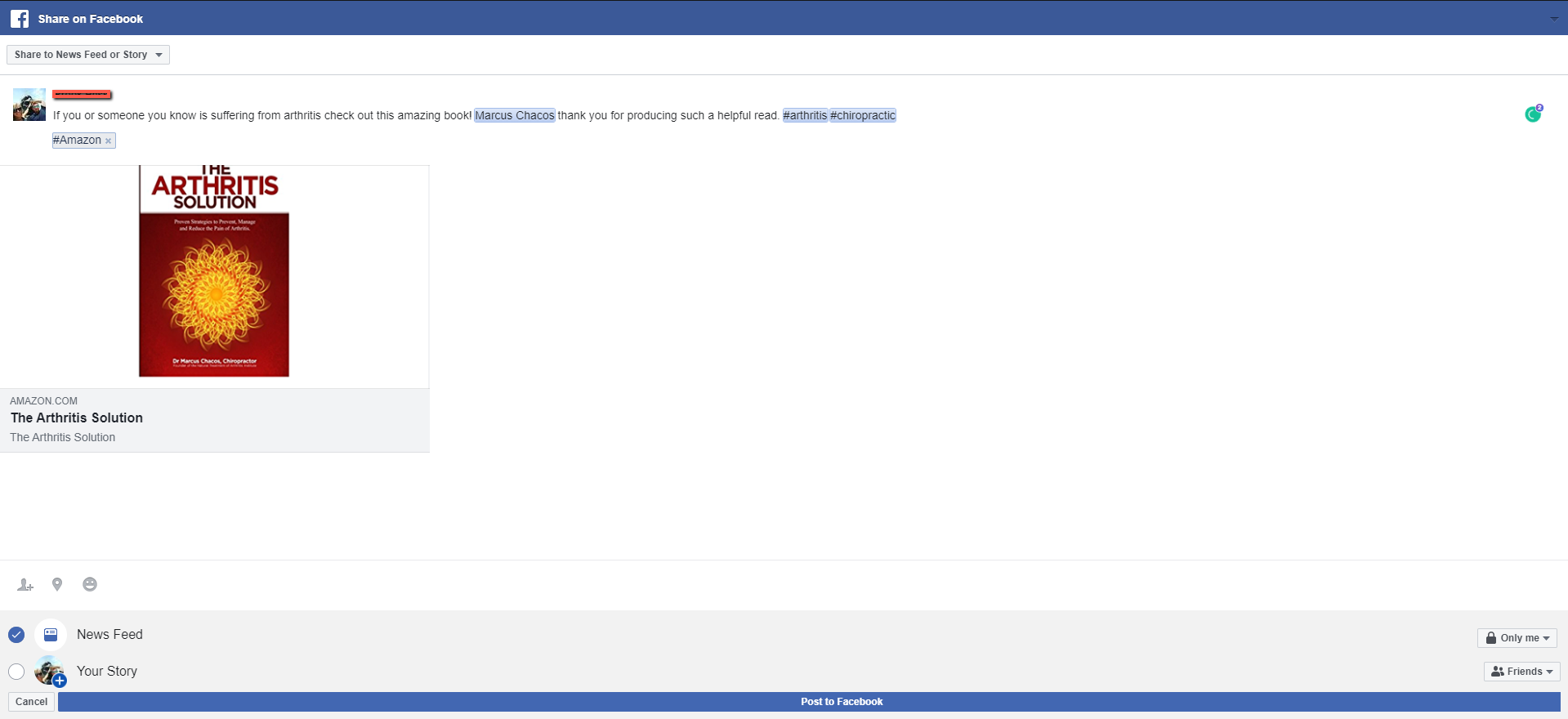 Facebook Share Window For Book Release