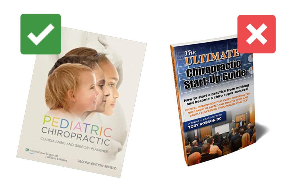 Good versus bad chiropractic book cover