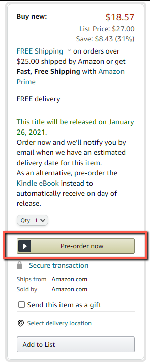 Pre Order Section Amazon Books